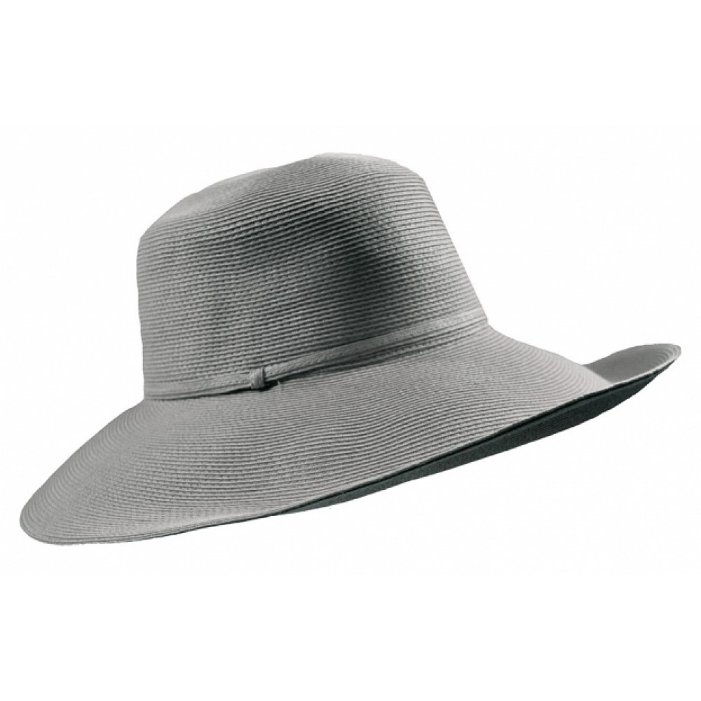 Wide Brim hat -Melina - in colour silver grey